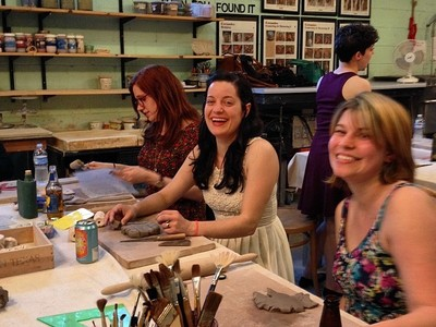 Private group workshop at clayspace