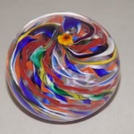 Event photo for: Swirly Cane Paperweight taught by visiting artist Matt Paskiett
