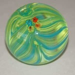 Event photo for: Feathered Paperweight with Millie Fiore Accents taught by visiting artist Matt Paskiett