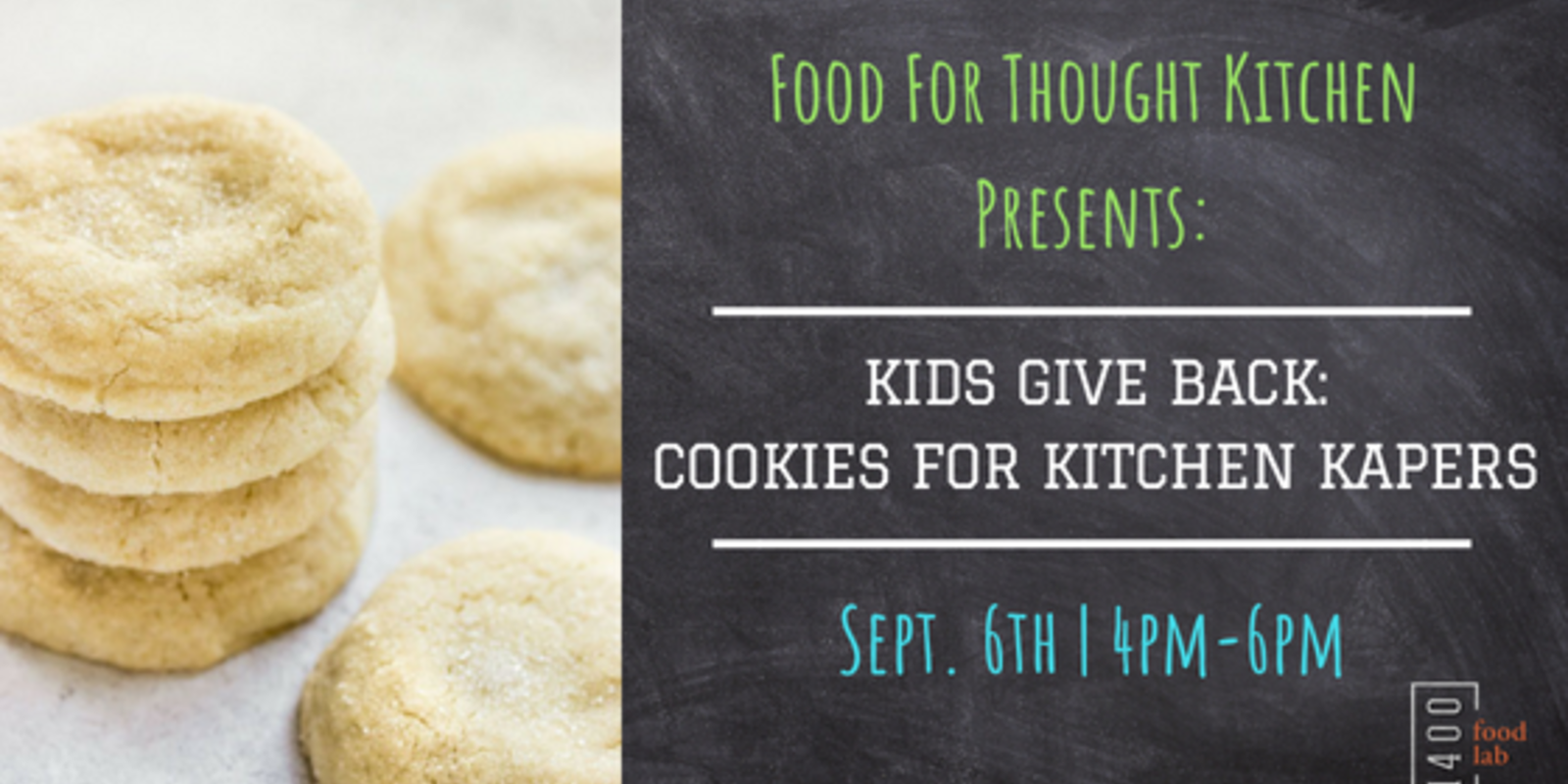 CLASS | Kids Give Back: Cookies For Kitchen Kapers