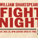 Event photo for: The Shakespeare Underground presents No Holds Bard: William Shakespeare's Fight Night