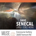 Large abstracts by David Senecal at the UA Concourse Gallery