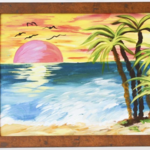 "Studio 614: ""Sunset on the Beach"" Painting"