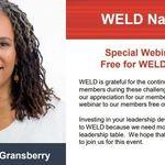 2020 WELD NATIONAL AUGUST SPECIAL WEBINAR - MONIKA MOSS-GRANSBERRY