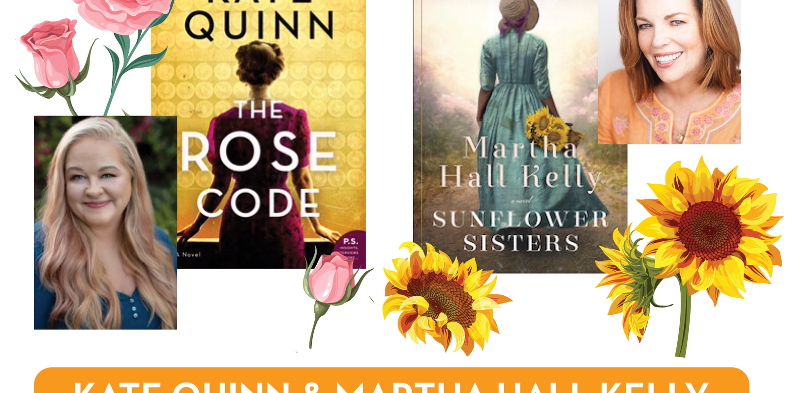 Kate Quinn and Martha Hall Kelly - virtual visit with authors to discuss their latest novels