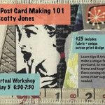 Event photo for: Fabric Postcard Making 101 with Scotty Jones