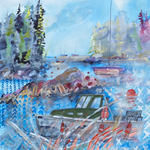 Watercolorist Daniel Rauschenbach at Emergent Art + Craft