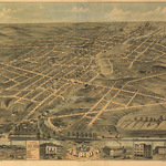 View of Akron 1870