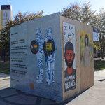 #ArtUnitesCbus at King Arts Center Amos Lynch Plaza cube