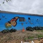 Milo-Grogan Butterfly Garden Mural by Gloria and Neighbors (934 Outdoor Gallery)