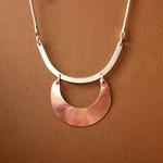 Ann Annie: Bold mixed metals necklace