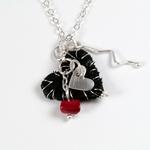 Ann Annie: Leather Heart Pendant