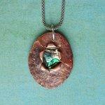 Ann Annie: Copper and Paua shell