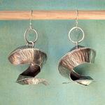 Ann Annie: Fold form corkscrew earrings
