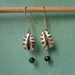 Ann Annie: Malachite and leaf earrings