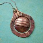 Ann Annie: Nested circle fold form pendant
