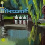 Katherine N. Crowley: Nightfall, Boston Public Garden, Boston Massachusetts